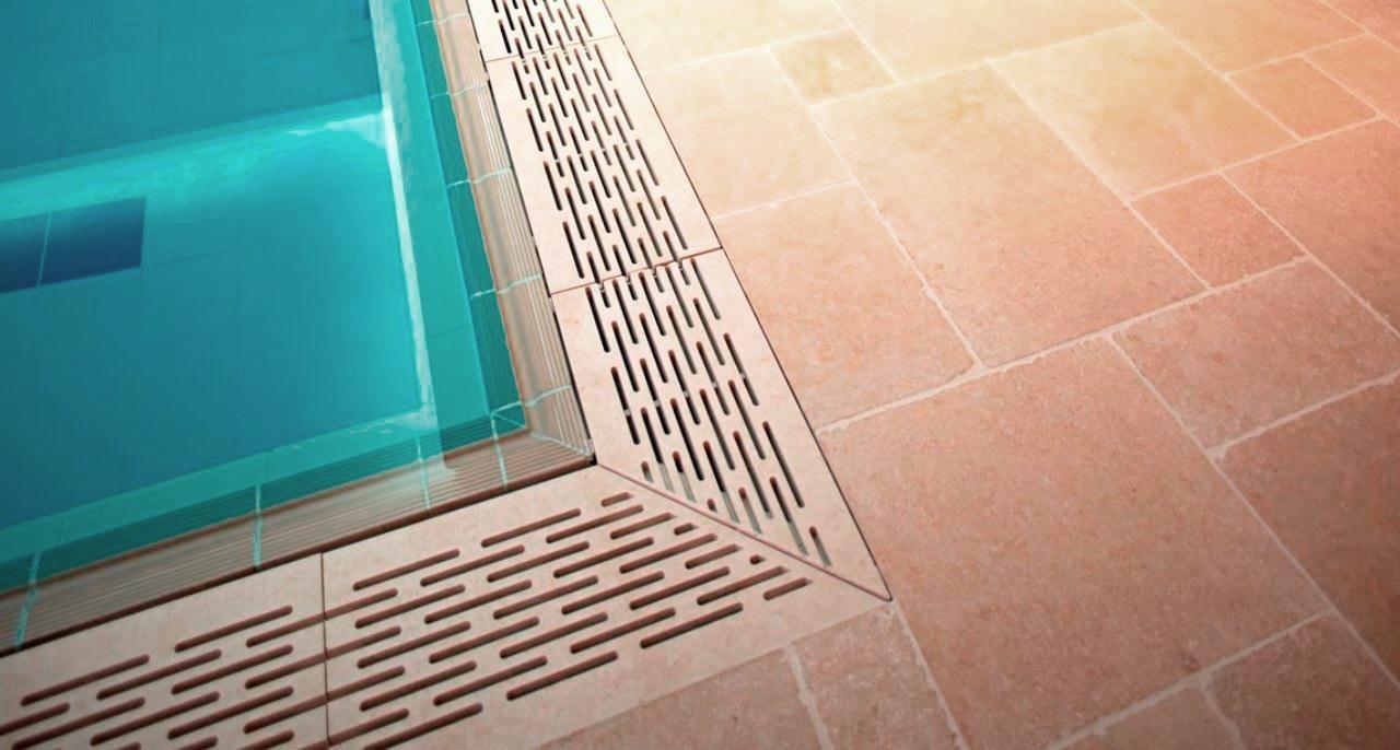 Pool und Schwimmbadrinnen aus Naturstein