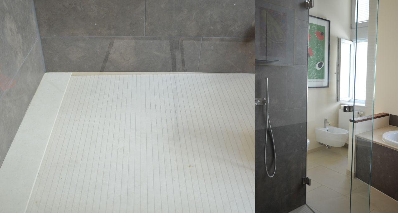 Bad aus Naturstein mit Duschtasse Aqua 4